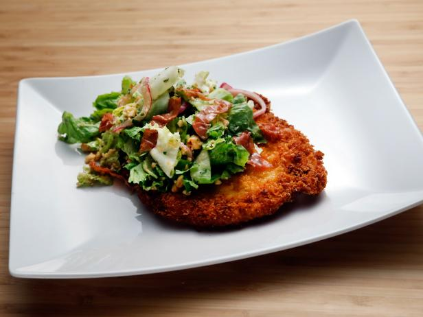 Chicken Milanese with Escarole Salad