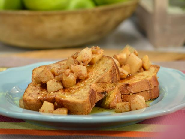 Apple, Pear and Walnut Stuffed French Toast