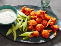 Cauliflower Hot Wings with Buttermilk Ranch Dipping Sauce
