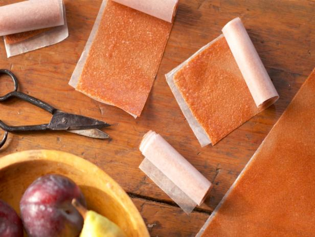 Pear and Plum Fruit Leather Rollups