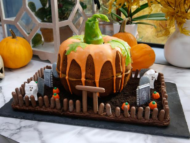 Pumpkin Cake Graveyard Recipe Food Network