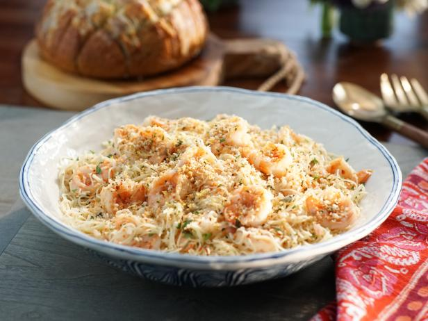 Shrimp Scampi and Pasta with Herb Breadcrumbs