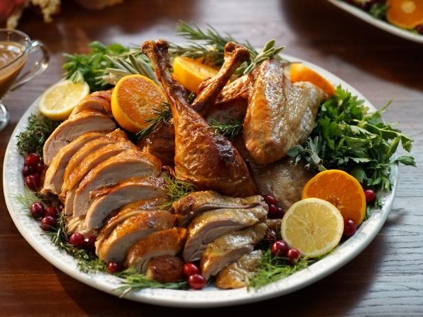Fennel and Citrus Roasted Turkey with Gravy