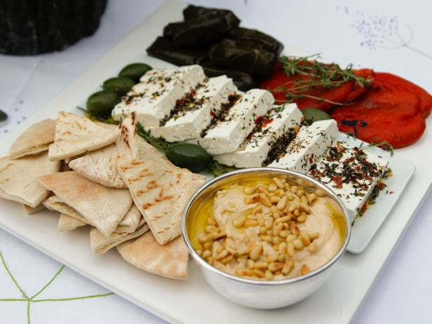 Greek mezze platter recipe ina garten food network Ina garten appetizer platter