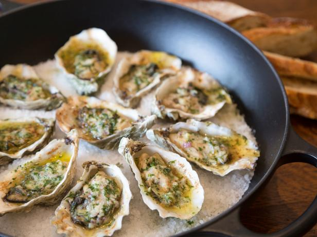 Grilled Oysters with Parsley and Garlic Butter