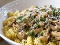 Rotini with Chicken Marsala Ragout