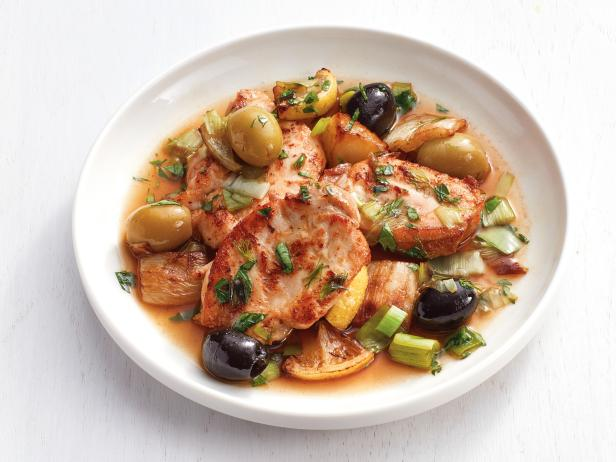 Chicken Thighs with Olives and Fennel