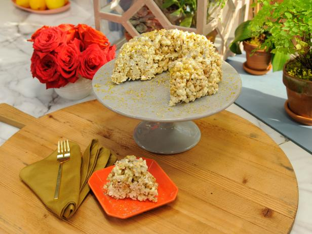 Silver and Gold Popcorn Confetti Bundt Cake