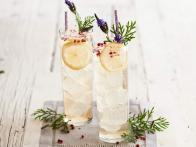 Lavender-Pink Peppercorn Vodka Sodas