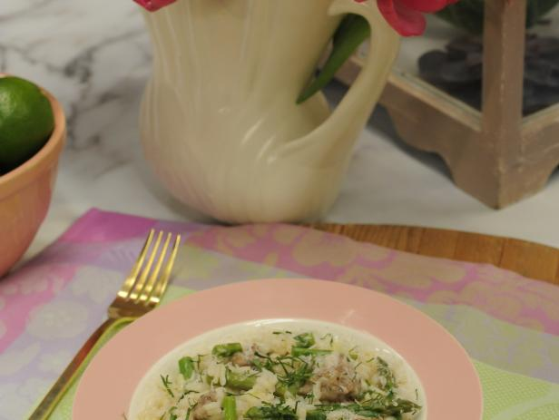 Sausage and Asparagus Risotto