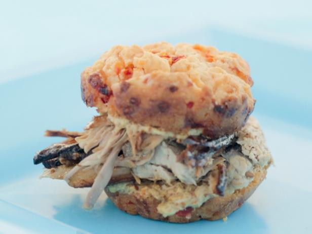 Ham And Pimiento Cheese Drop Biscuit Sandwiches