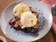 Blueberry Cobbler with Lemon Honey Ice Cream