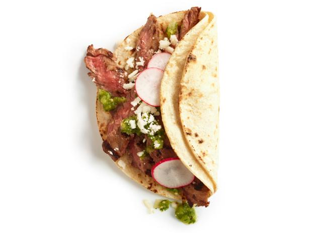 Steak Tacos with Tomatillo Salsa