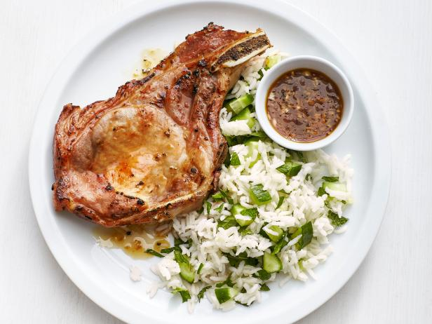 Vietnamese Pork Chops with Ginger Rice