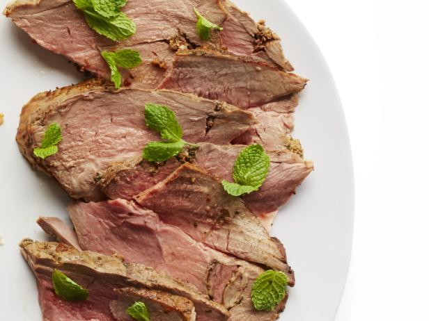 Roast Leg of Lamb with Ginger and Mint