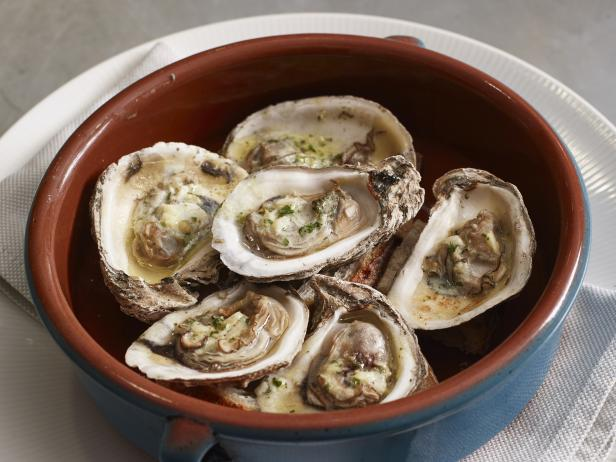 Roasted Oysters with Garlic-Parsley Butter Recipe | Marc Murphy | Food ...