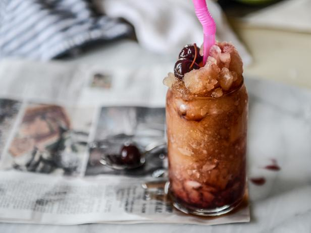 Boozy Cherry Cola Slushies