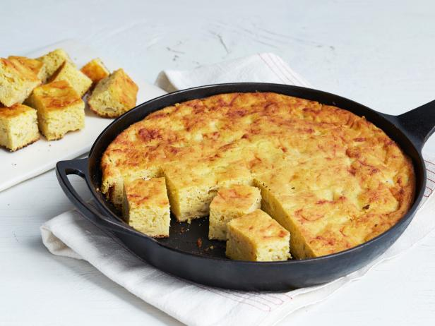 Cheesy Green Chile Cornbread