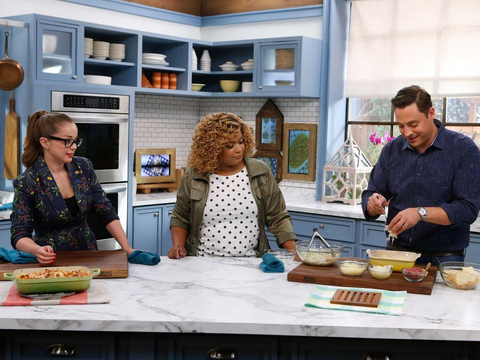 The Kitchen Food Network Cast on the set of kitchen sink | kitchen sink | food network