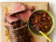 Peppered Beef Tenderloin with Bacon-Onion Jam