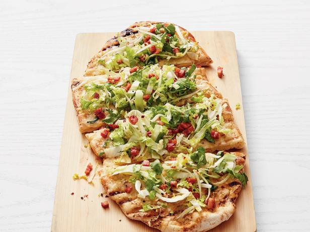 grilled white pizza with fennel salad - Ina Garten Fennel Salad