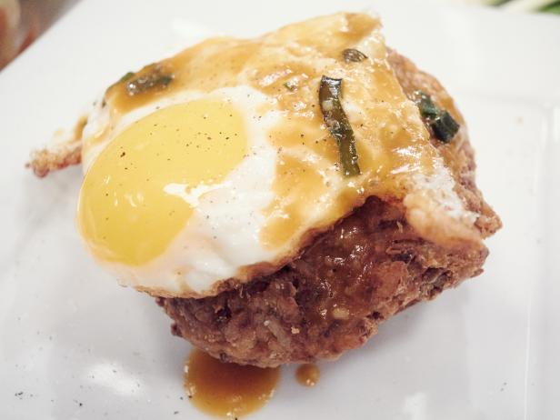 Loco Moco Fried Rice Patties