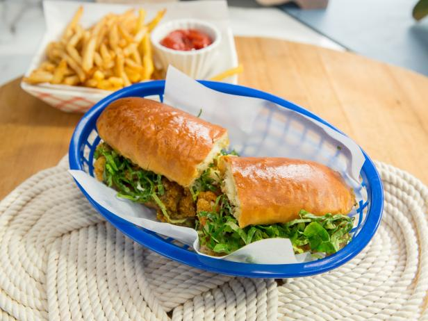 Buttermilk Fried Clam Roll with Spicy Pickle Dressing
