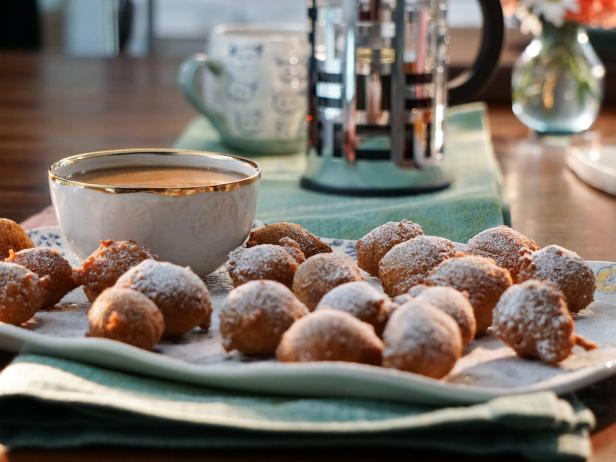 Mini Zeppole with Caramel Marsala Dipping Sauce