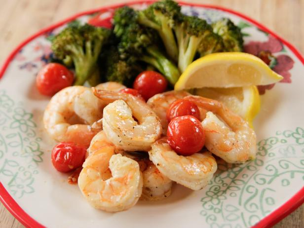 Roasted Shrimp with Cherry Tomatoes