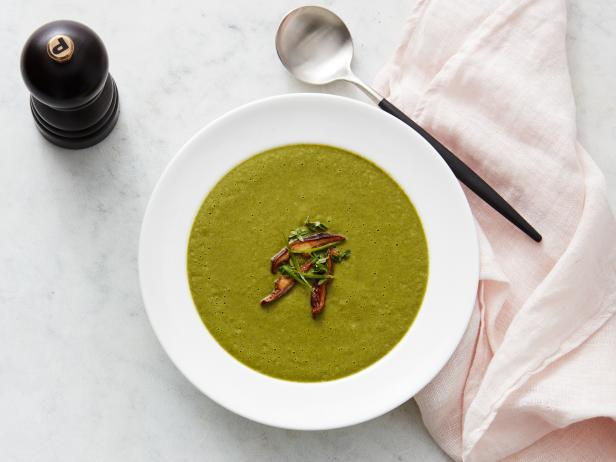 Matcha and Mushroom Soup