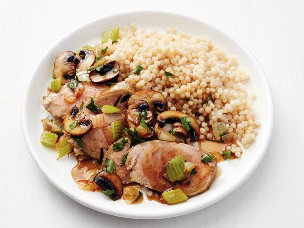 Pork Tenderloin with Mushrooms and Couscous