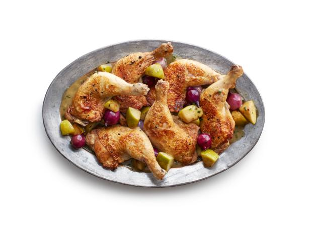 Cider Chicken with Apples and Onions