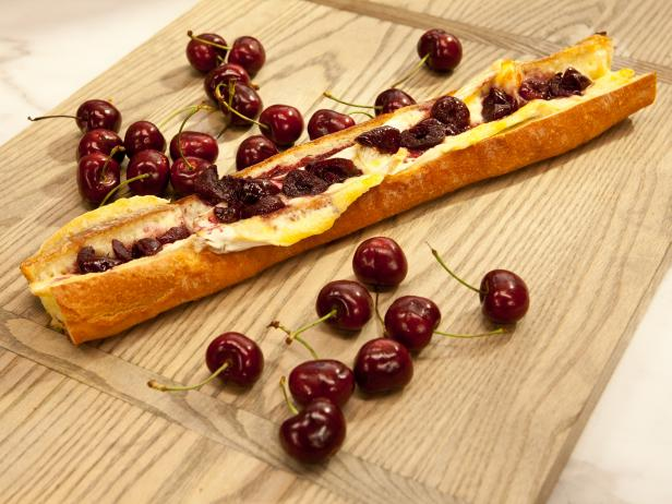 Baguette Stuffed with Brie and Cherries