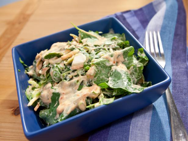 Sunny's Grilled Chicken and Kale Salad with Sunny's Creamy