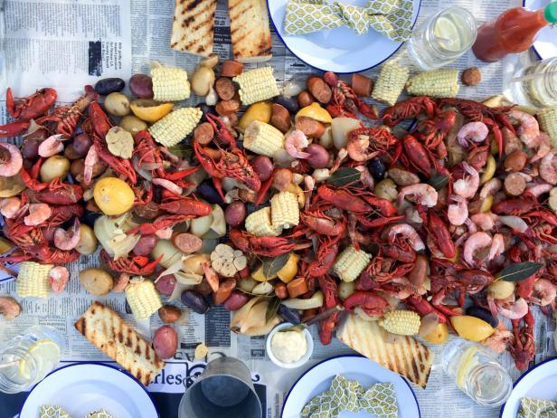 Creole Crawfish and Shrimp Boil