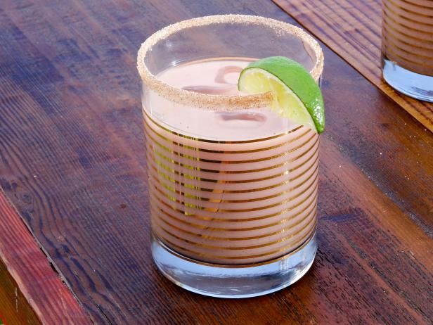 Horchata, Lime and Mezcal Cocktail