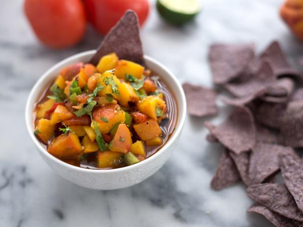 Grilled Peach and Tomato Salsa