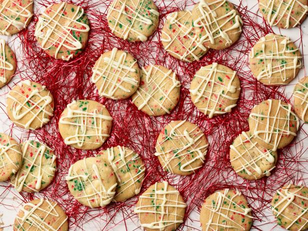 White Chocolate Confetti Christmas Cookies