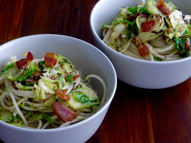 Gluten-Free Brussels Sprouts Carbonara