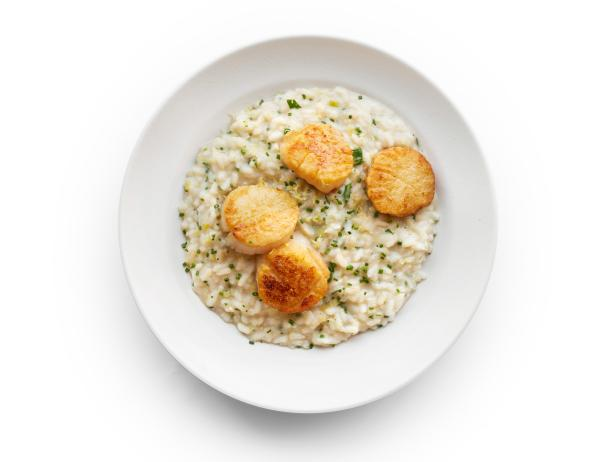 Lemon-Herb Risotto with Scallops