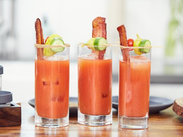 Tiffani's Spicy Bloody Mary with Maple Bacon