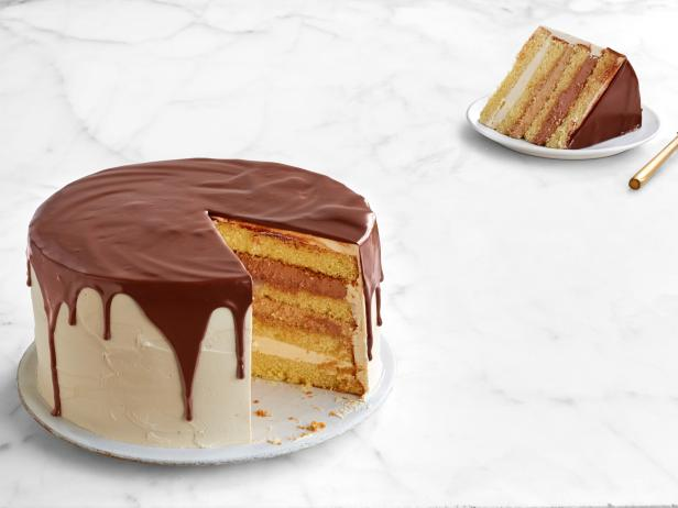 Chocolate Layer Cake With Banana Filling