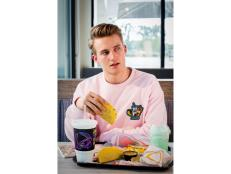 Anyone in the market for a pink taco-and-burrito-emblazoned sweatshirt?