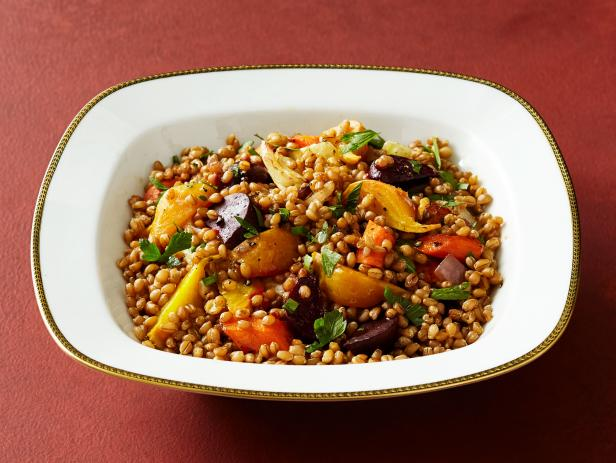 Wheat Berries with Roasted Beets and Carrots