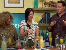 If you want to jazz up your cocktail game, try playing around with what is on the edge of the glass. The trick is to find flavors that complement each other. The cast of The Kitchen offers up a few of their favorites here.