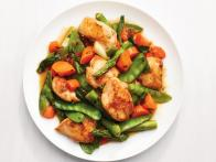 Apricot-Glazed Chicken with Spring Vegetables