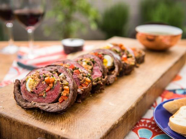 Matambre with Chimichurri Sauce Recipe | Food Network Kitchen | Food ...