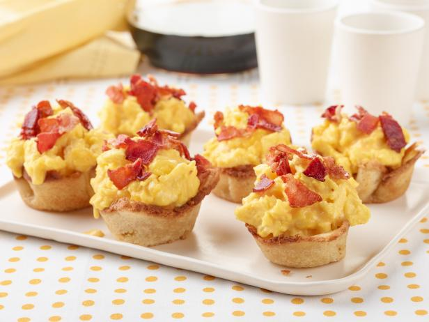 Bacon, Egg and Cheese Toast Bowls