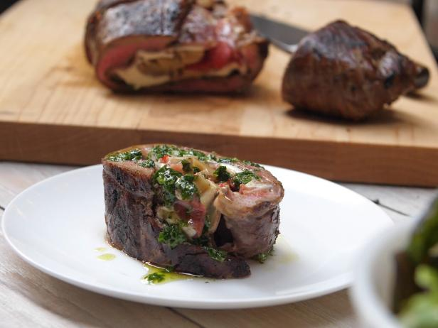 Antipasti-Stuffed Flank Steak Recipe | Food Network ...
