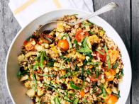 Warm Farro Salad with Charred Corn